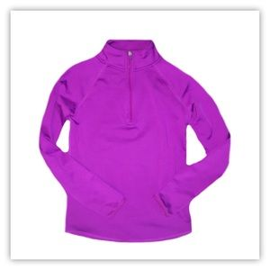 Justice Girl's Half Zip Long Sleeve Top